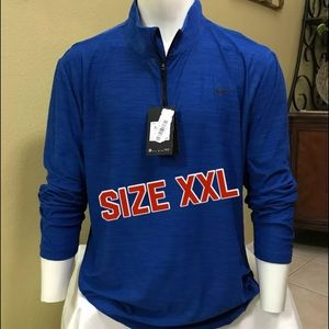Nike Mens Breathe Dry Quarter Zip Long Sleeve Shirt
